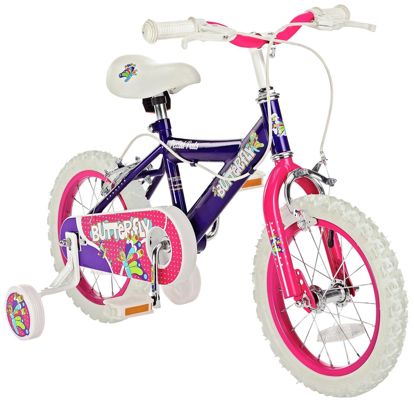 Pedal Pals Butterfly 14 inch Wheel Size Kids Bike