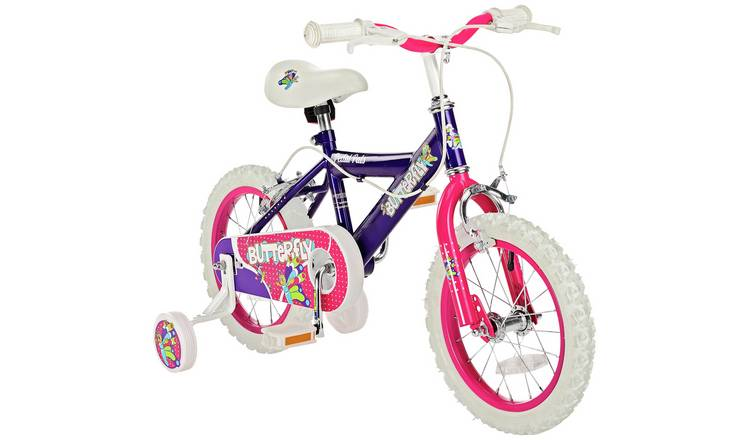 Pedal Pals Butterfly 14 inch Wheel Size Kids Bike
