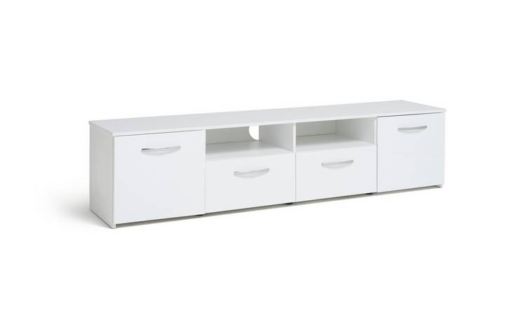Habitat Hayward 2 Door TV Unit - White Gloss