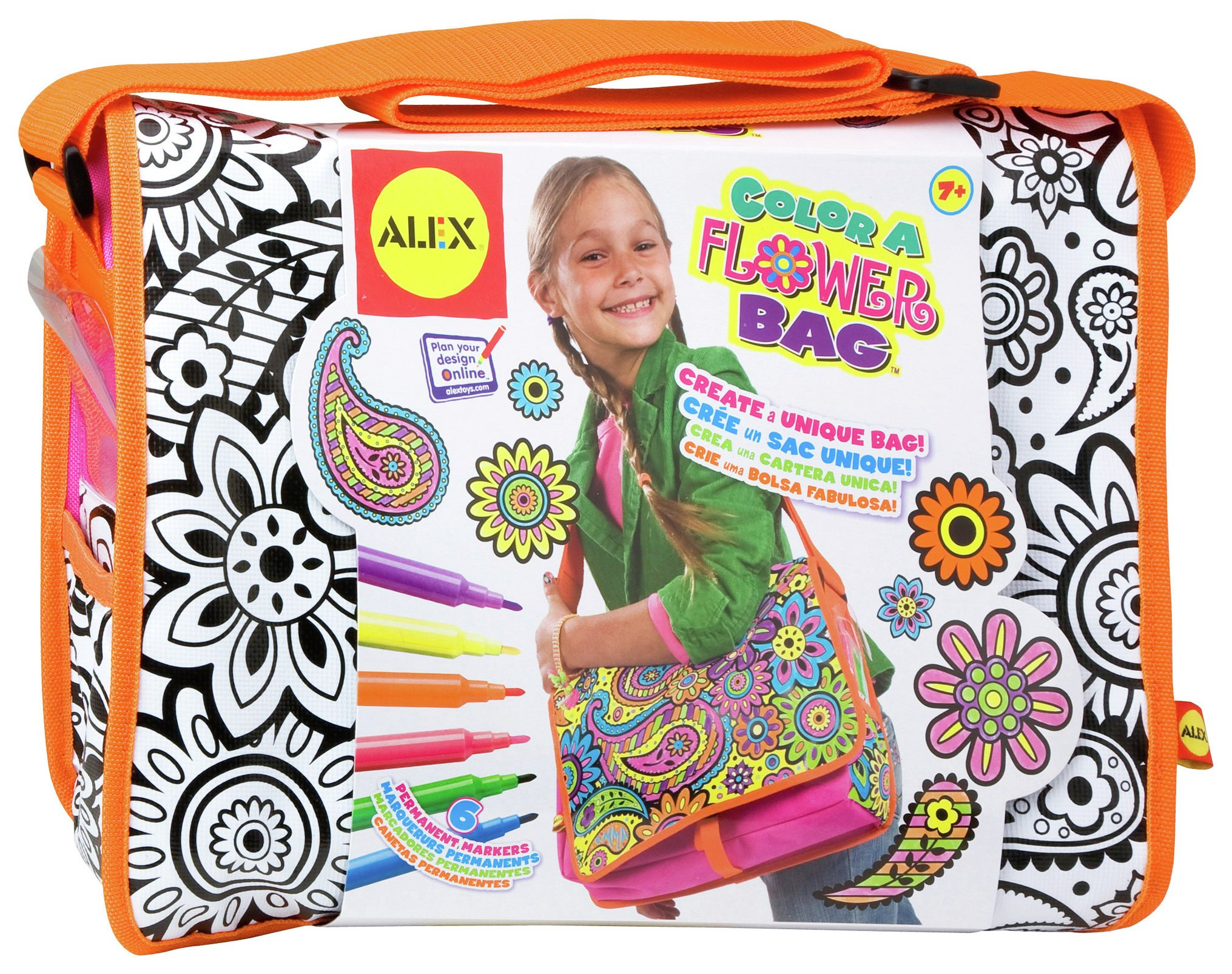 Image of Alex Colour A Flower Bag.