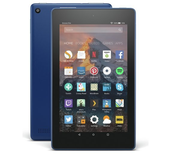 Compare retail prices of Amazon Fire 7 Alexa 7 Inch 8GB Tablet Marine Blue to get the best deal online