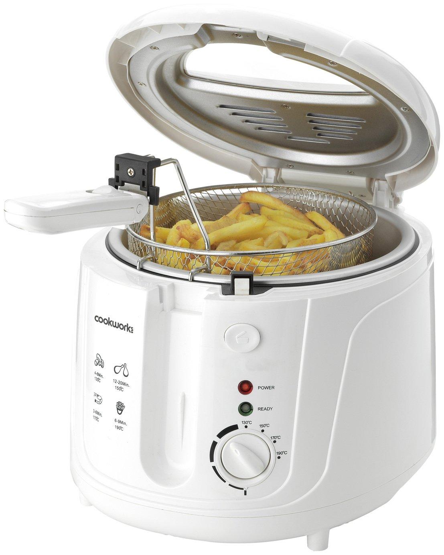 'Cookworks Df5318-gs Deep Fat Fryer - White