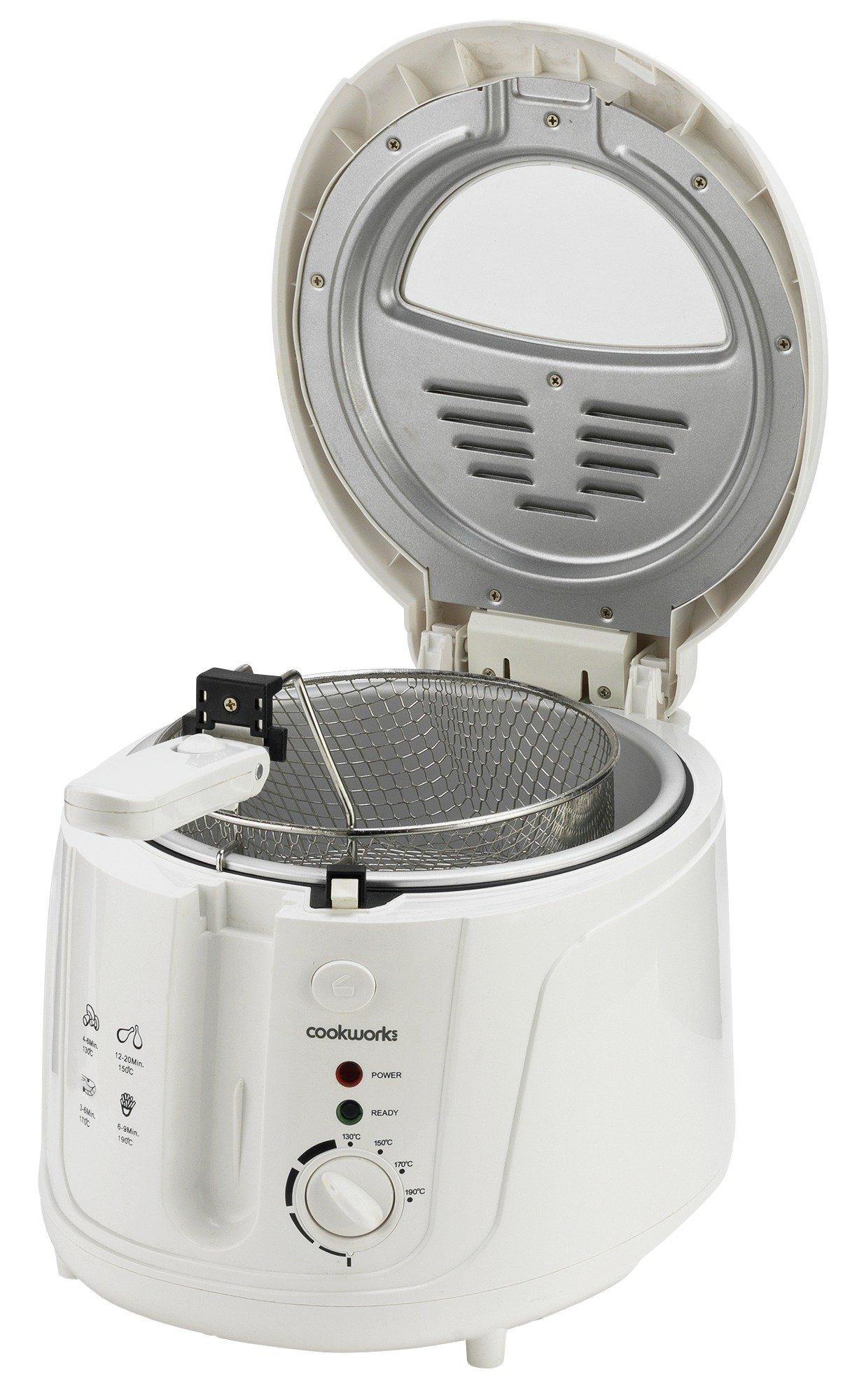 Cookworks DF5318-GS Deep Fat Fryer - White
