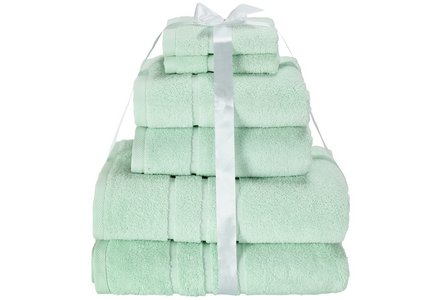 HOME Zero Twist 6 Piece Towel Bale - Mint.