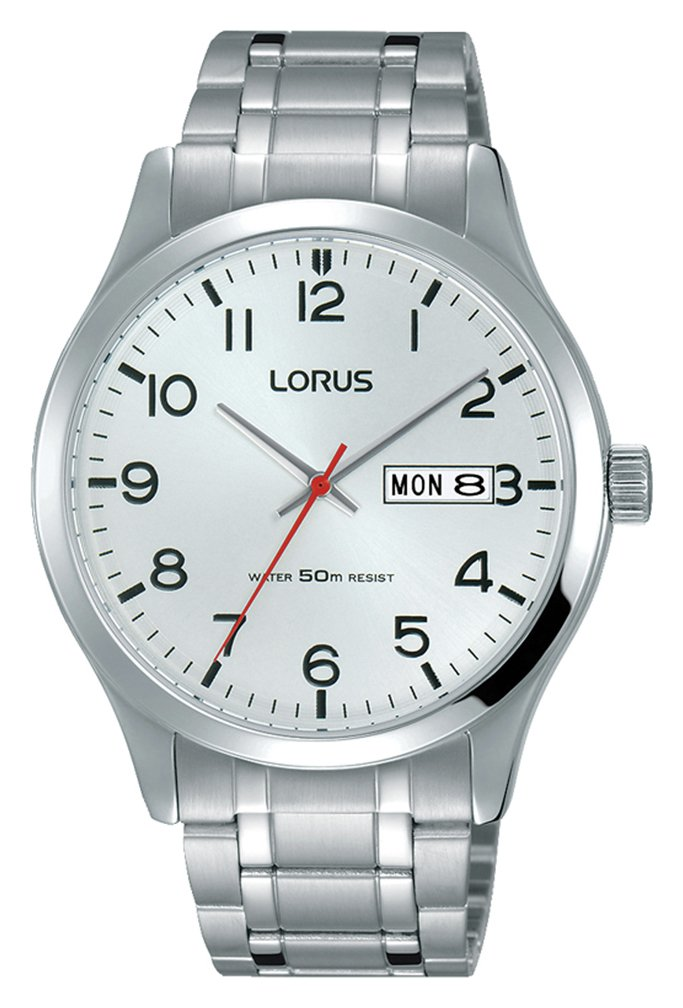 Lorus Men's Silver Stainless Steel Bracelet Watch