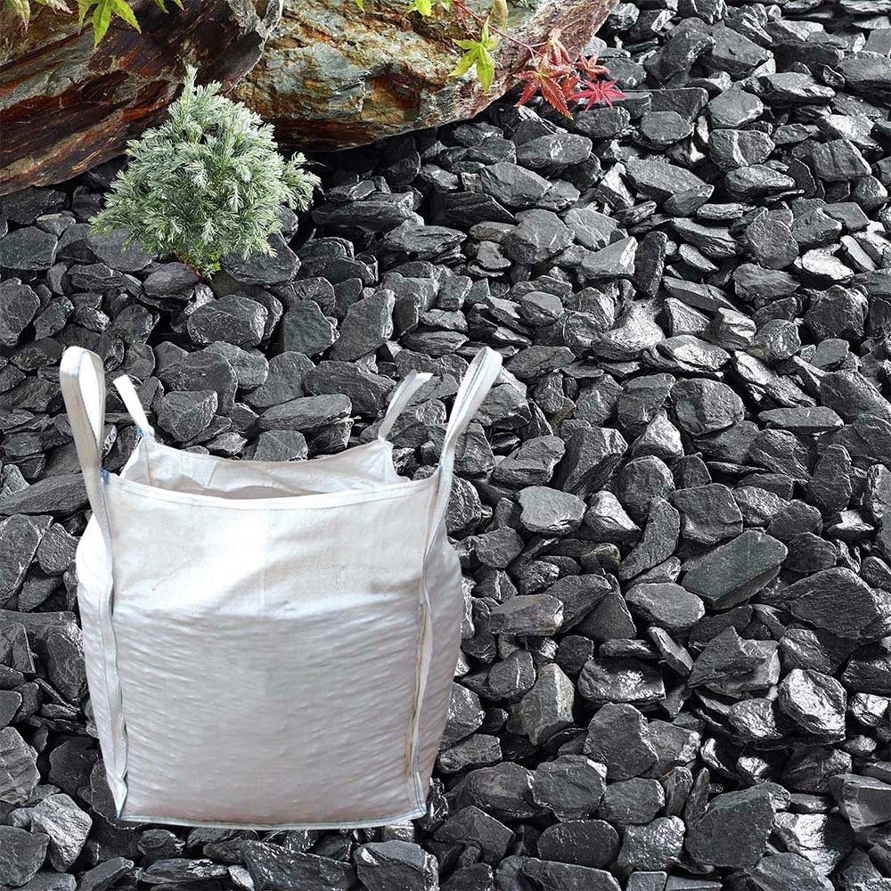 The Real Gravel Company Blue Slate Chippings - 40mm