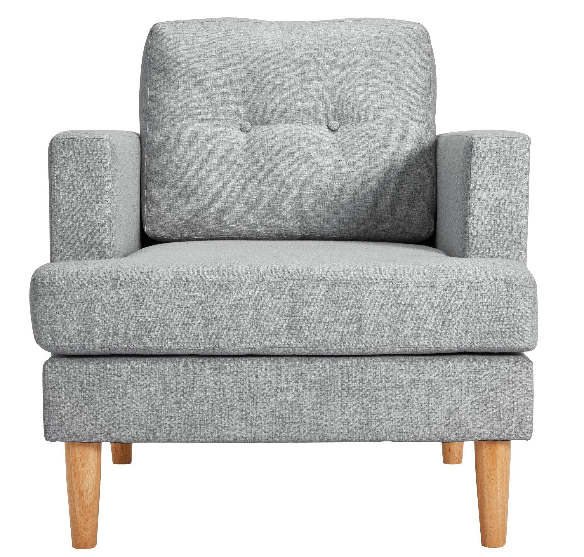 Argos Home Joshua Fabric Armchair - Light Grey