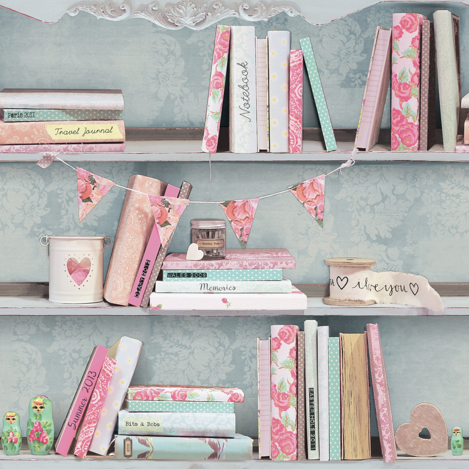 arthouse curious bookshelf effect wallpaper