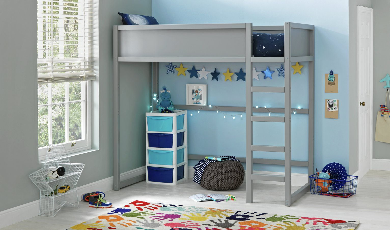 Collection Tokyo Heavy Duty Highsleeper Bed - Grey