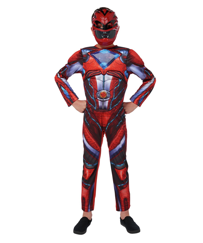 Power Rangers Children's Red Fancy Dress Costume - 5-6 Years