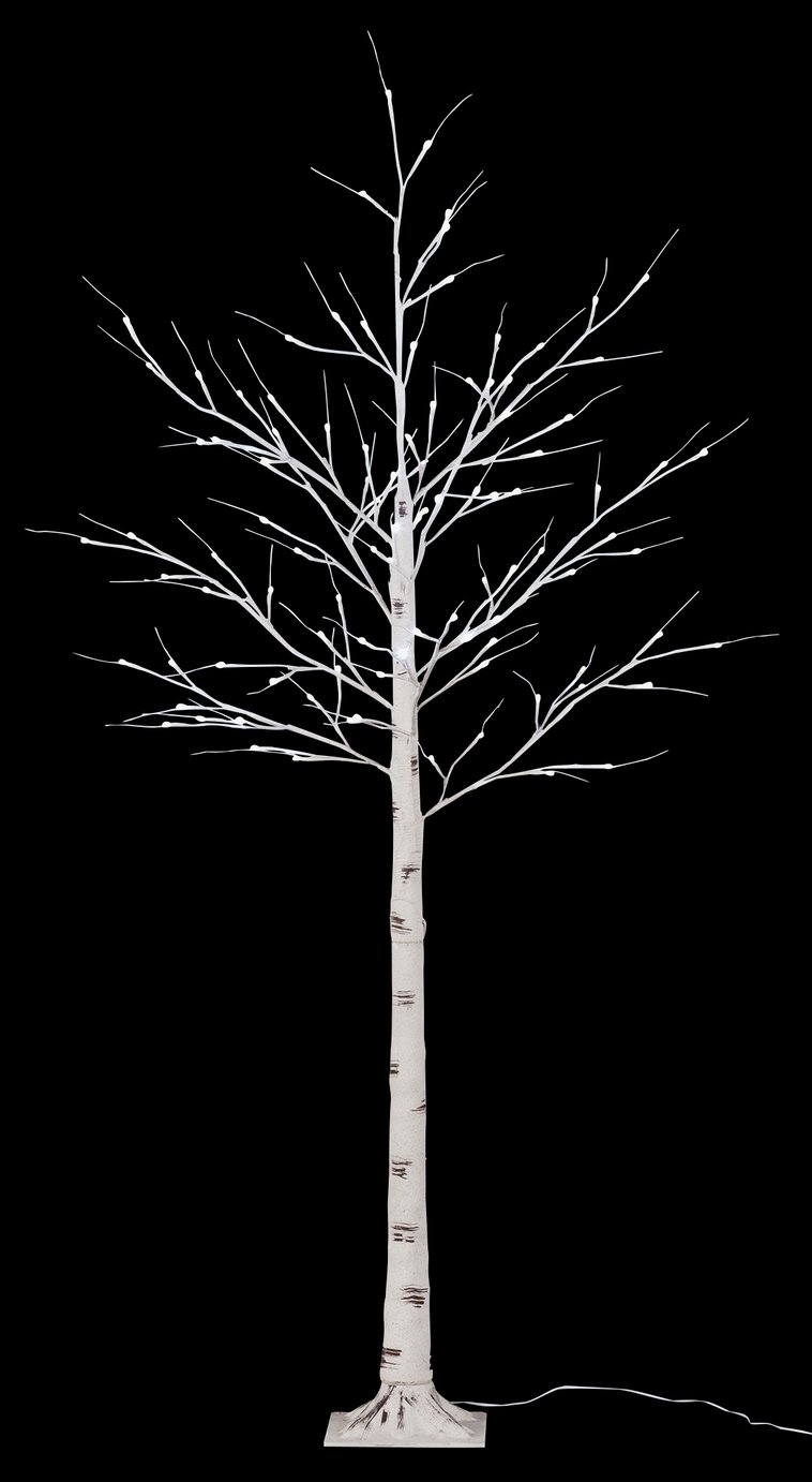 6ft 100 White LED Birch Twig Tree