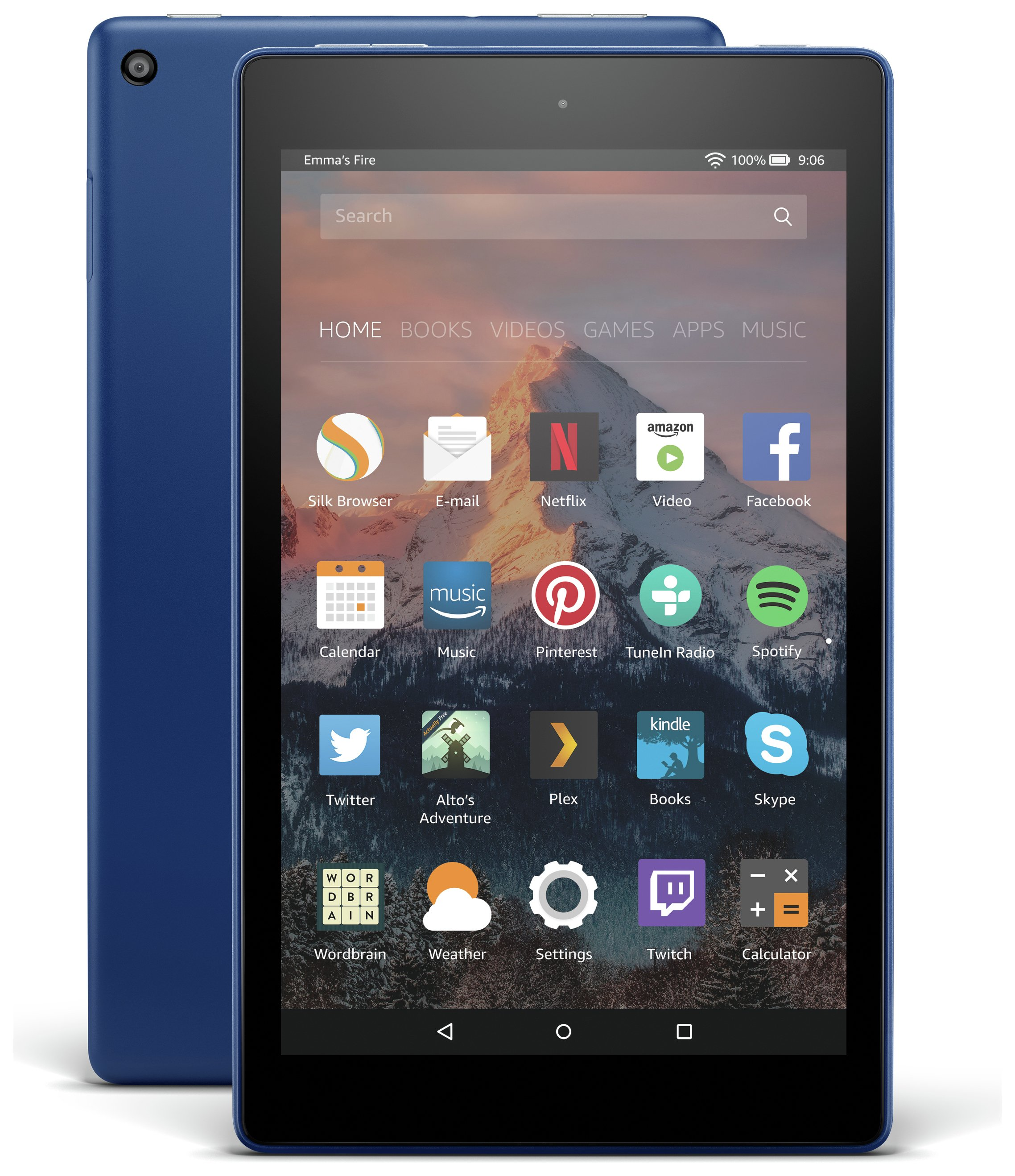 Compare retail prices of Amazon Fire 8 HD Alexa 8 Inch 16GB Tablet Marine Blue to get the best deal online