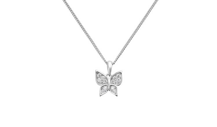 Revere Sterling Silver Butterfly Pendant Necklace