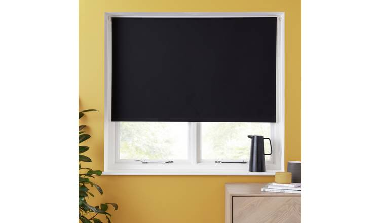 Argos Home Blackout Insulating Roller Blind - 2ft - Black