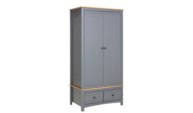 Argos Home Bournemouth 2 Door 2 Drawer Wardrobe - Dark Grey