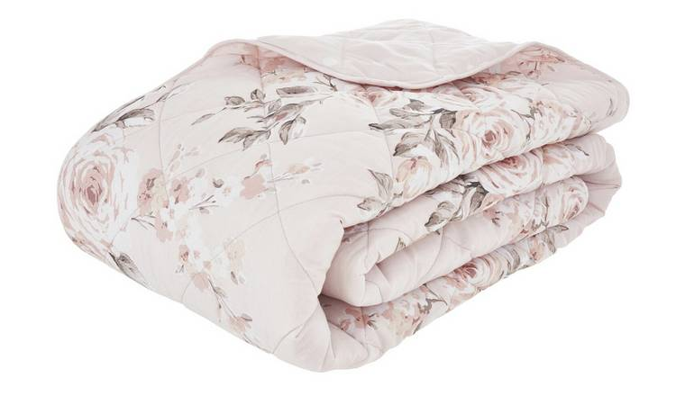 Catherine Lansfield Canterbury Easycare Bedspread - Blush