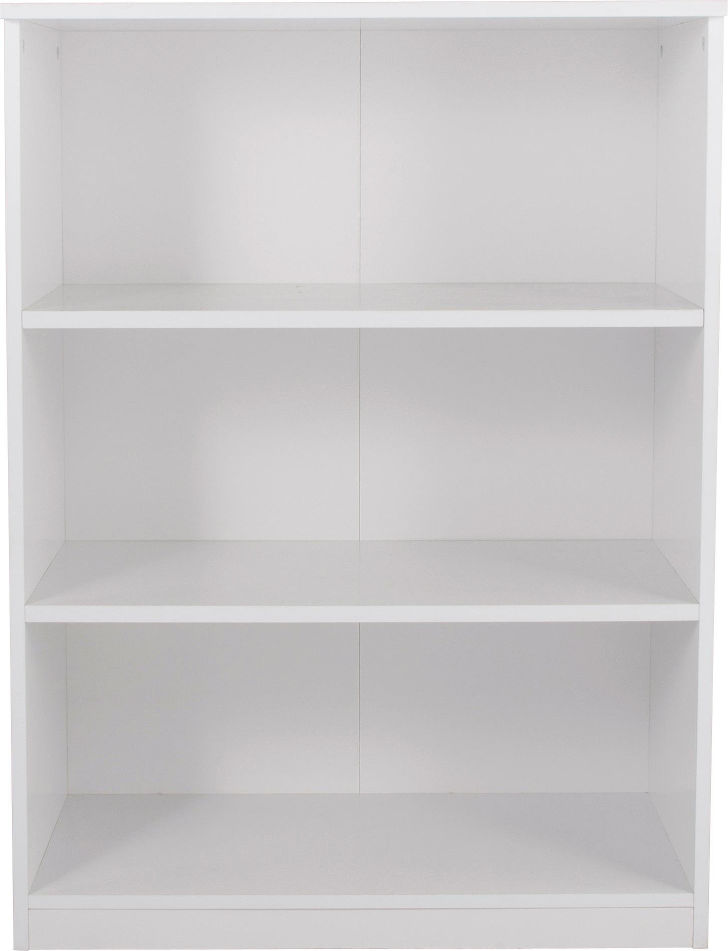 HOME New Pagnell 3 Shelf Bookcase - White