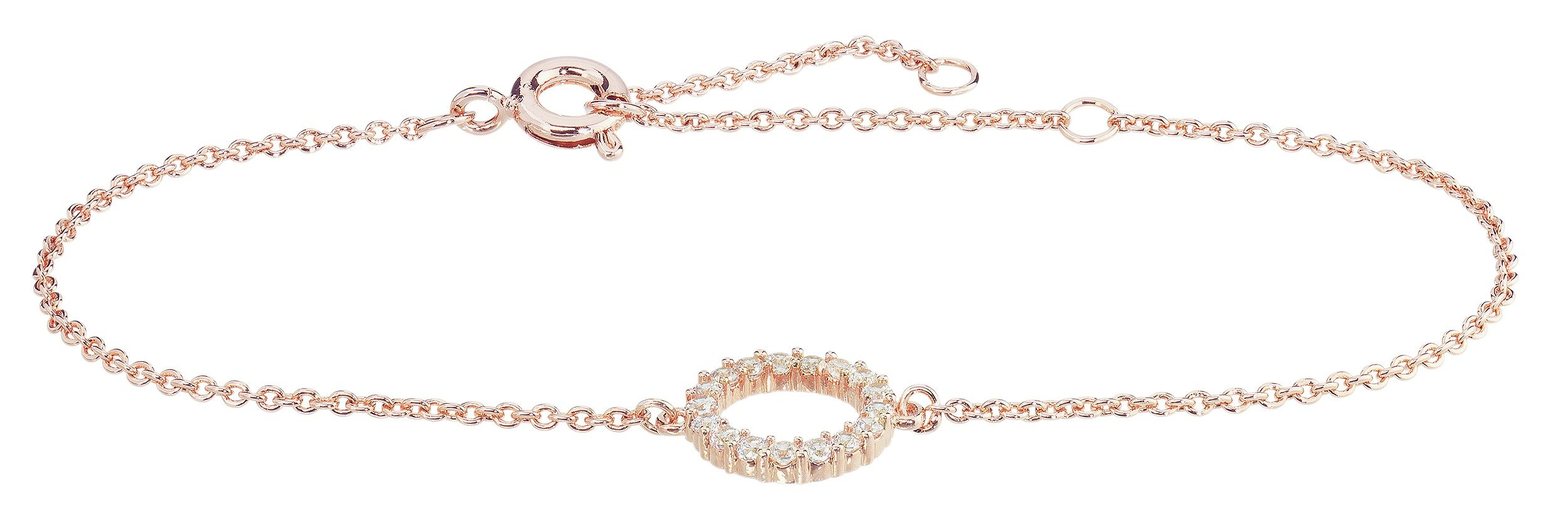 Image of Abbey Clancy Rose Gold Colour Cubic Zirconia Bracelet