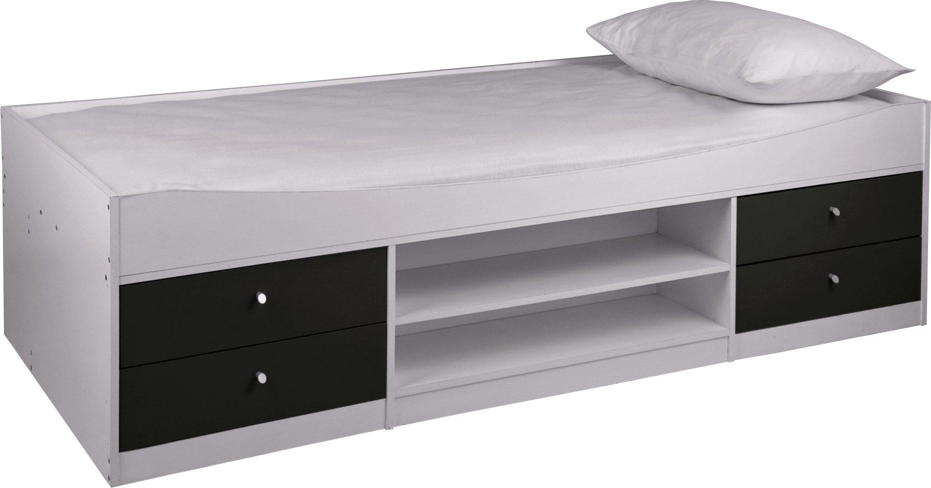 Argos Home Malibu Cabin Bed Frame - Black On White
