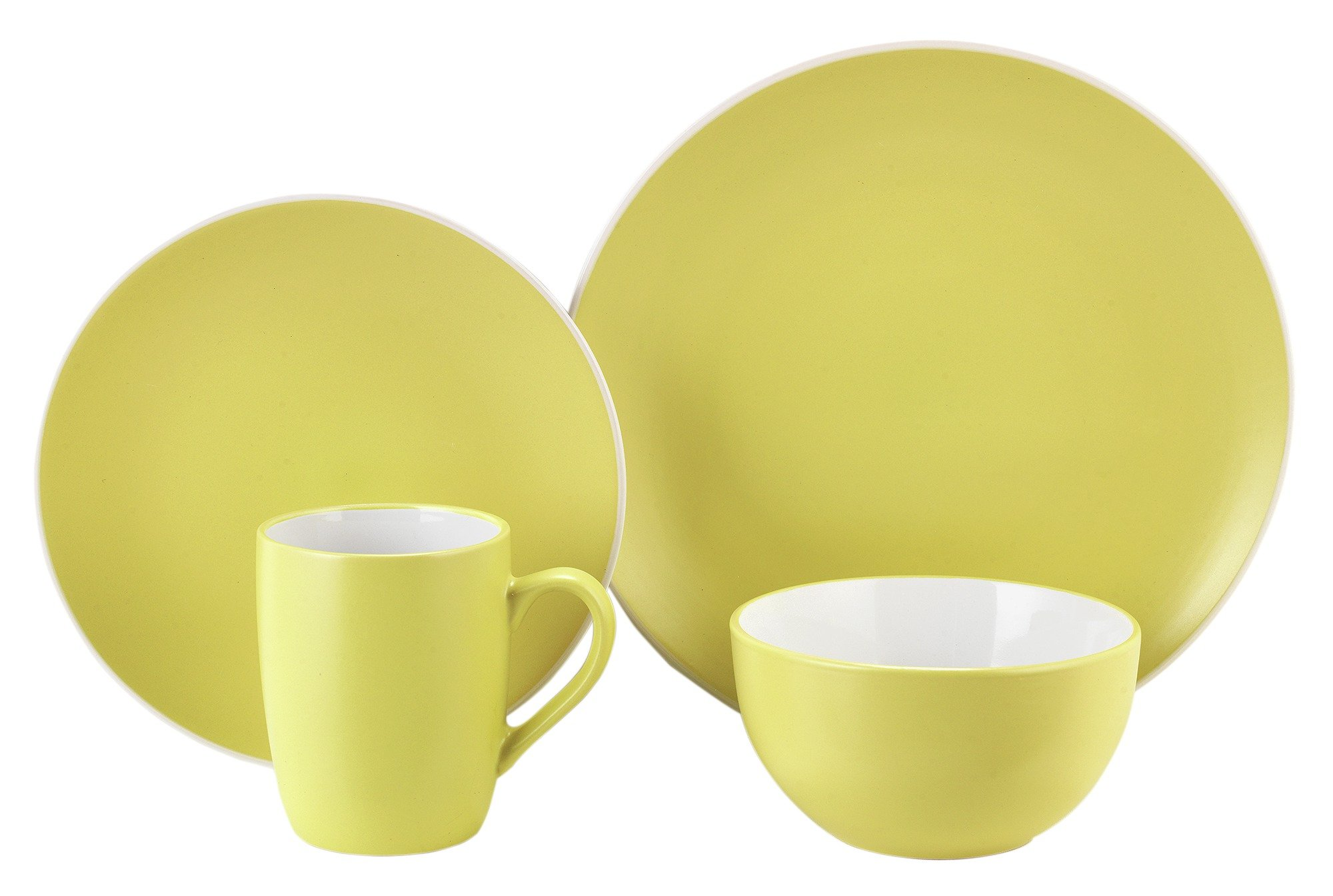 ColourMatch 12 Piece Stoneware Dinner Set - Zest