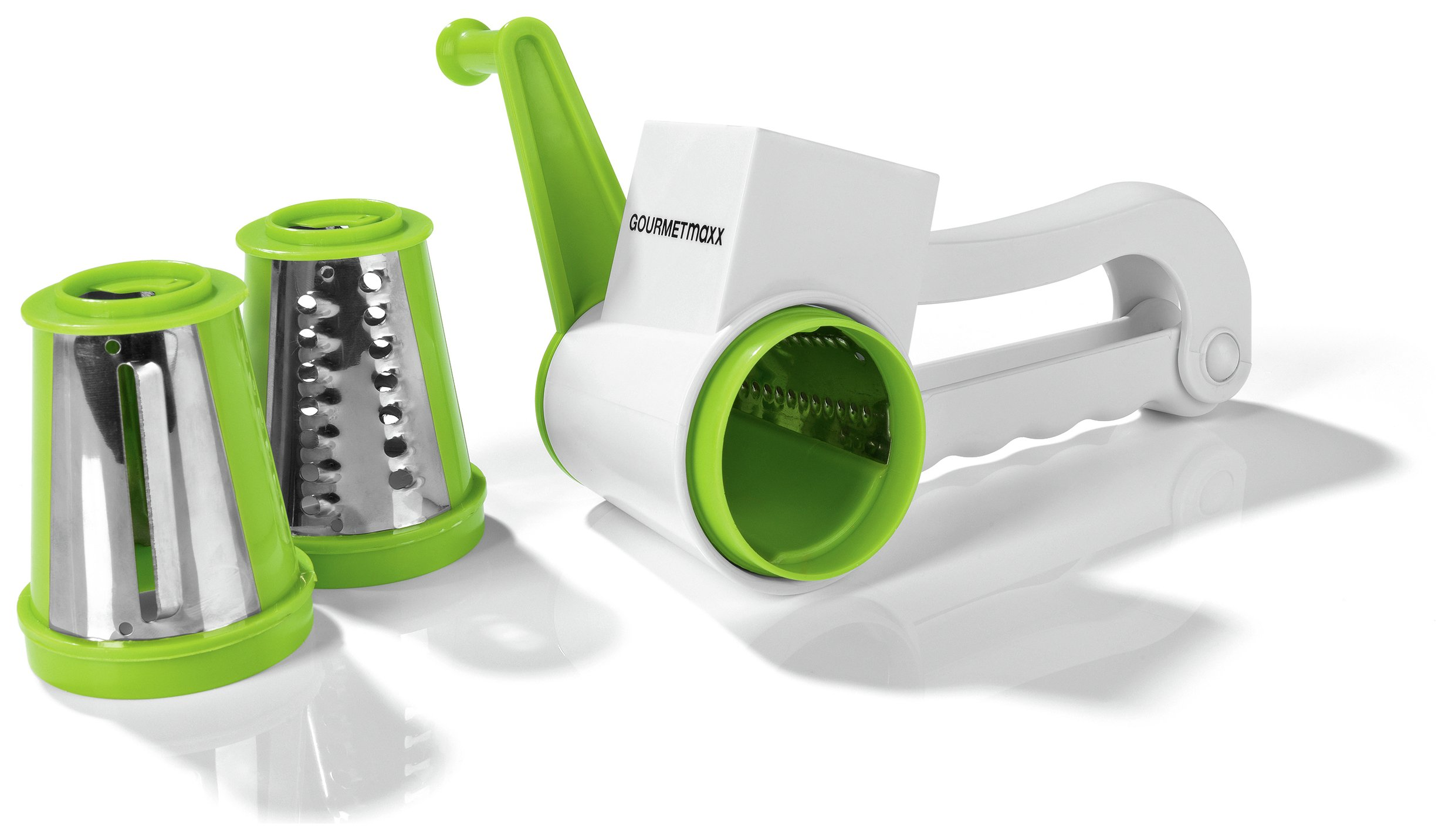 GOURMETmaxx 3 in 1 Rotary Hand Held Grater