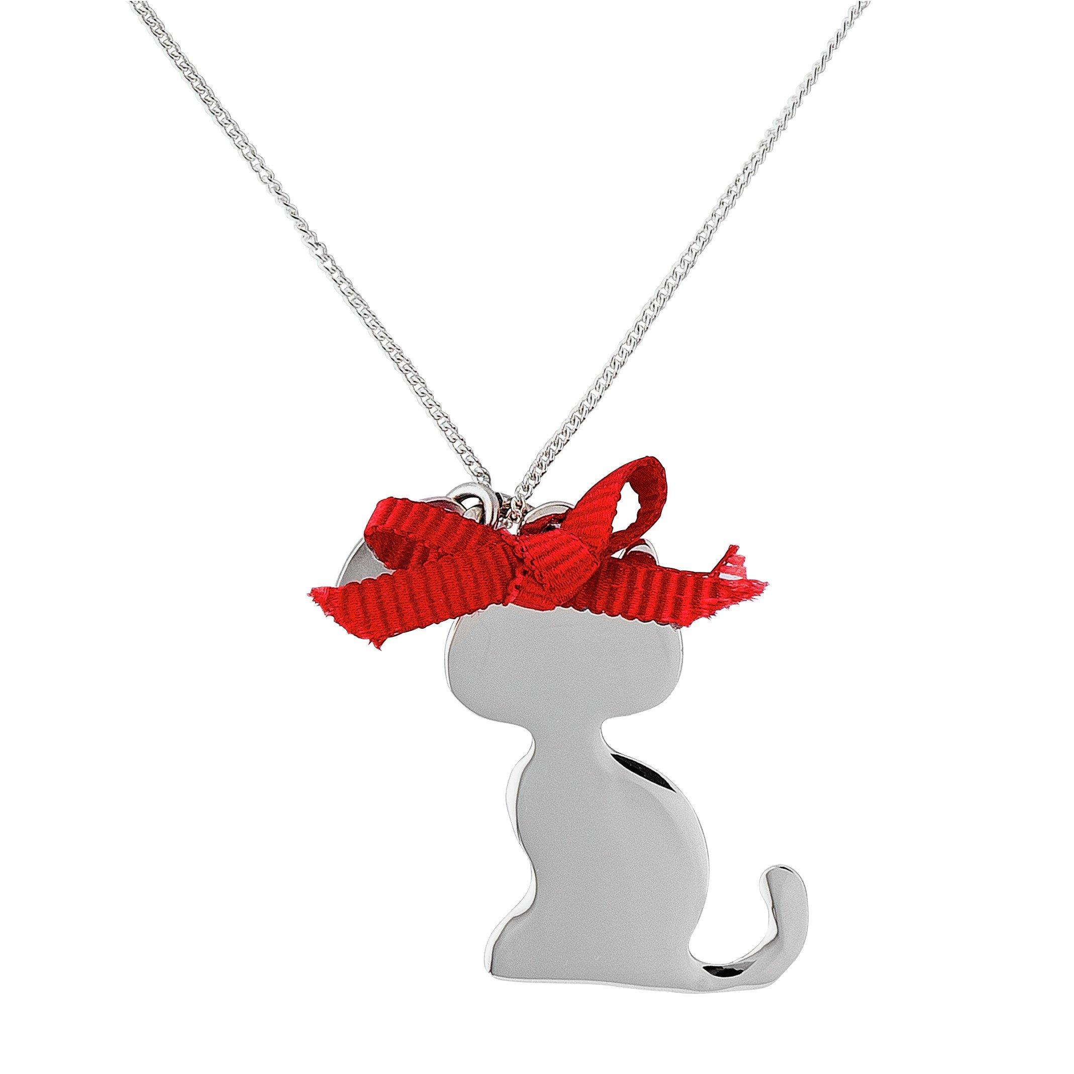Image of Revere Sterling Silver Cat Pendant