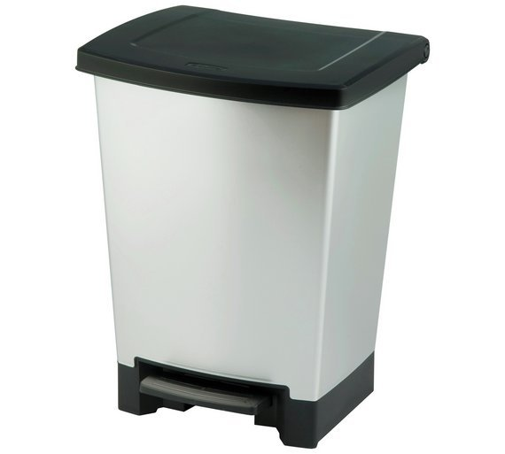Curver 25L Duo Recycle Bin - Silver