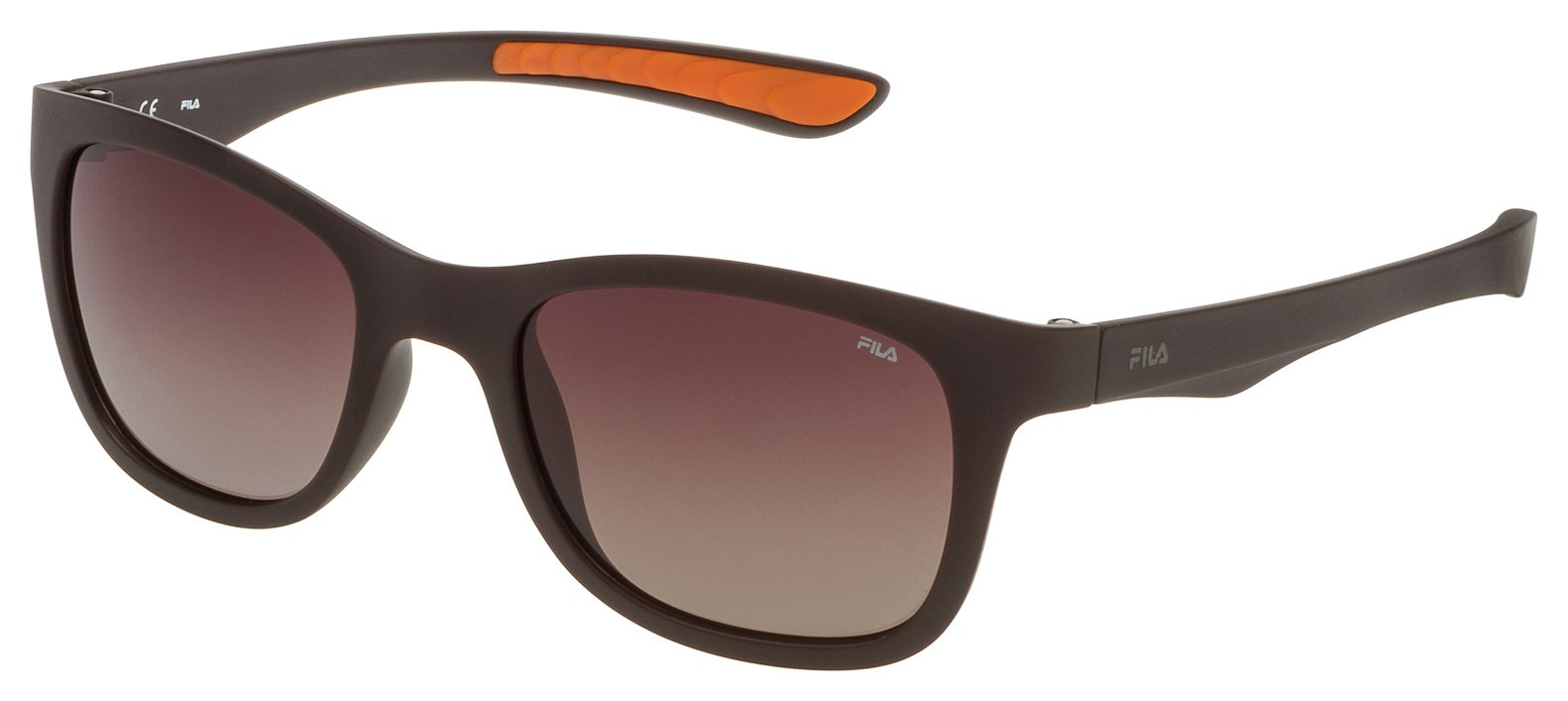 Image of Fila Shiny Intermediate Brown Sunglasses.