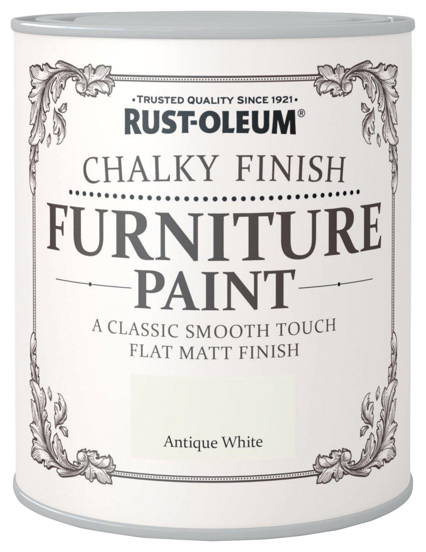 Rust-Oleum Chalky Matt Furniture Paint 750ml - Antique White