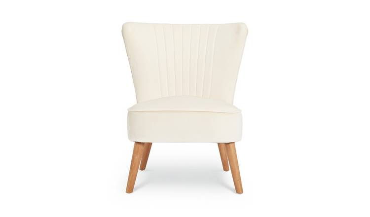 Brilliant Buy Argos Home Alana Velvet Shell Back Accent Chair Natural Armchairs And Chairs Argos Bralicious Painted Fabric Chair Ideas Braliciousco