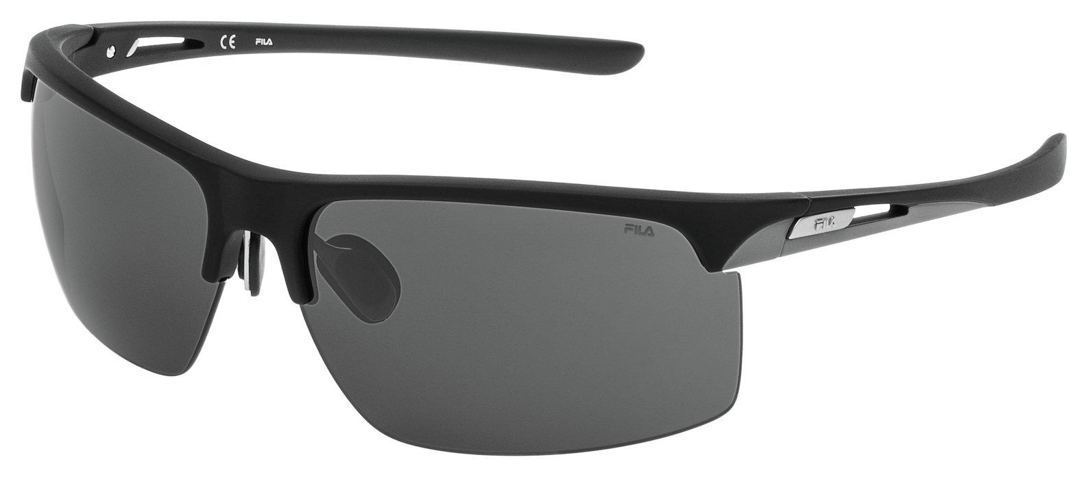 Image of Fila Matt Black Smoke Lens Sunglasses.