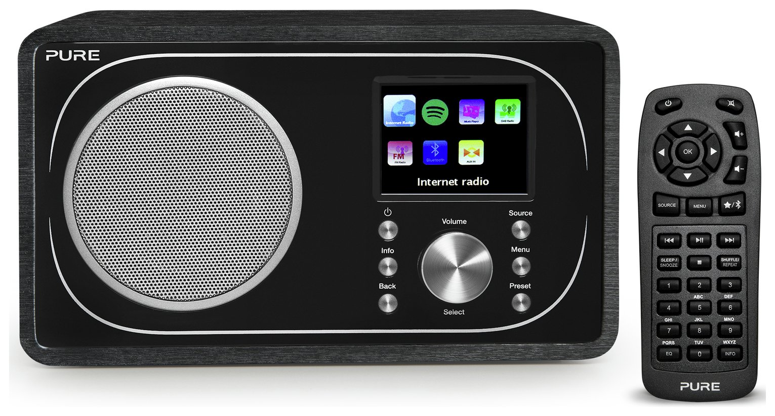 Image of Pure Evoke F3 Internet DAB Radio - Wood