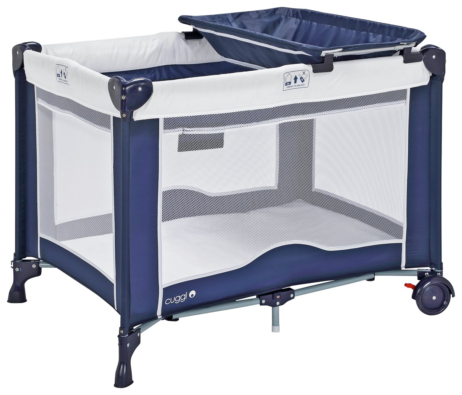 Image of Cuggl Deluxe Travel Cot and Changer Unit