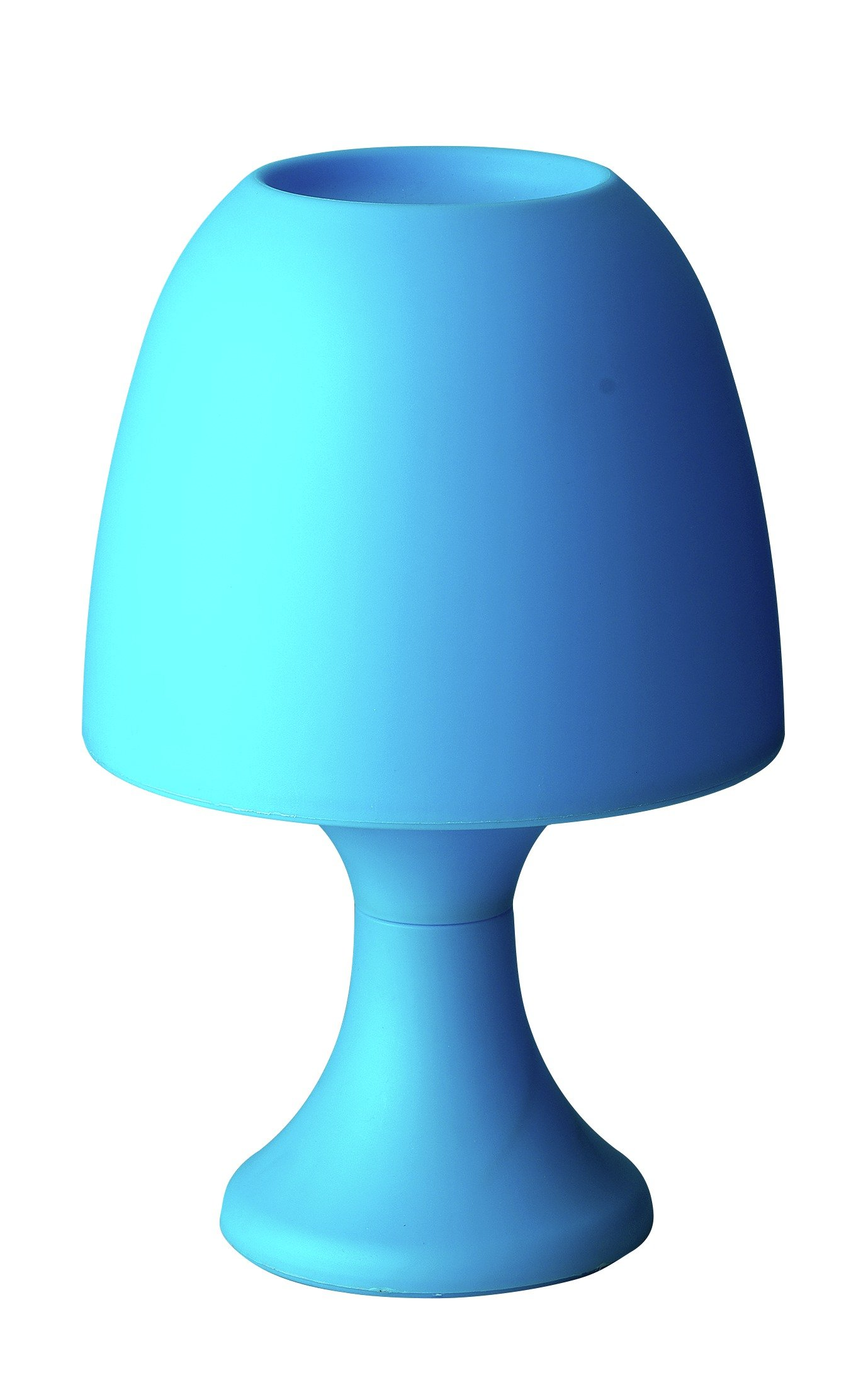 home led battery operated table lamp  blue