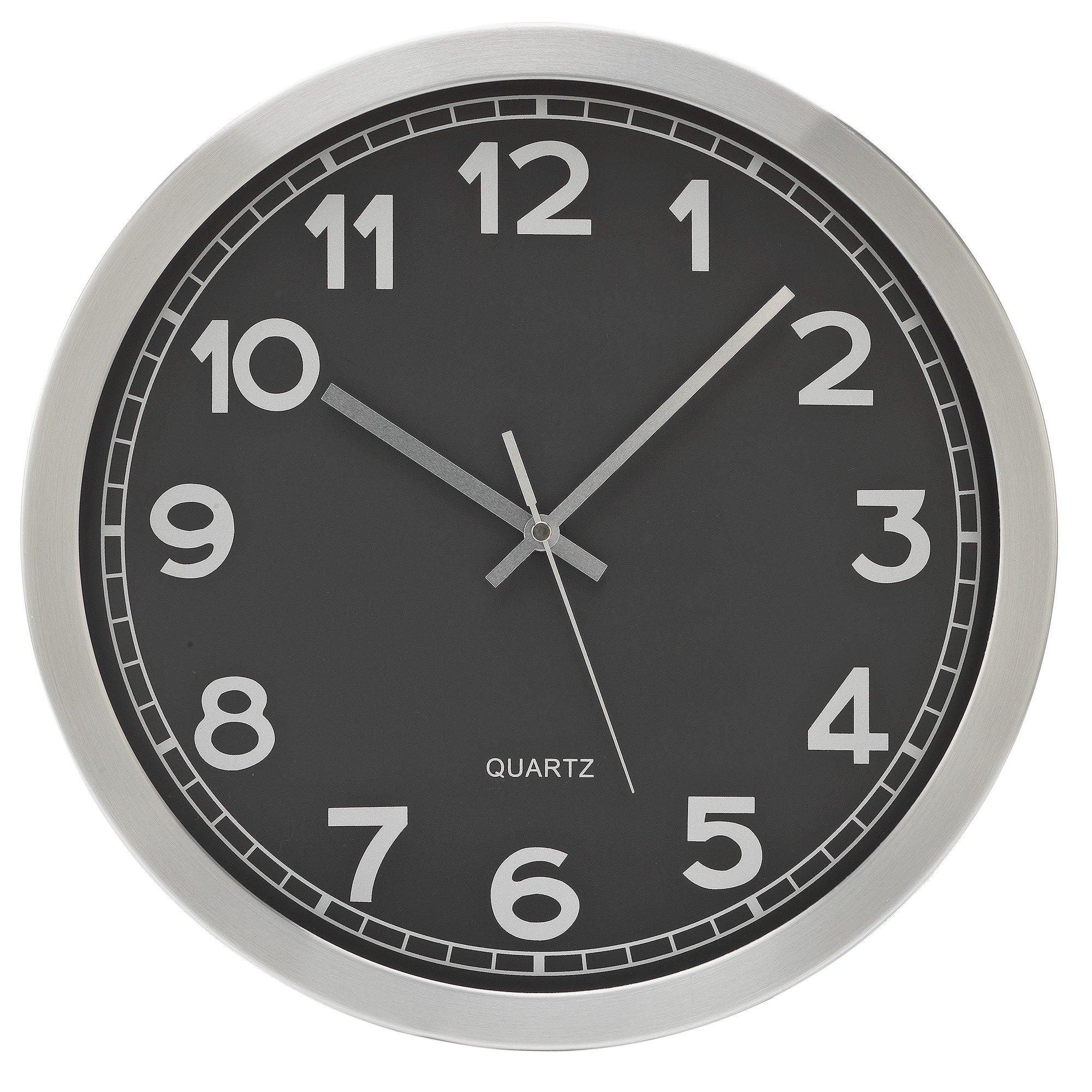 Black Kitchen Clock Argos: Hygena Wall Clock Grey