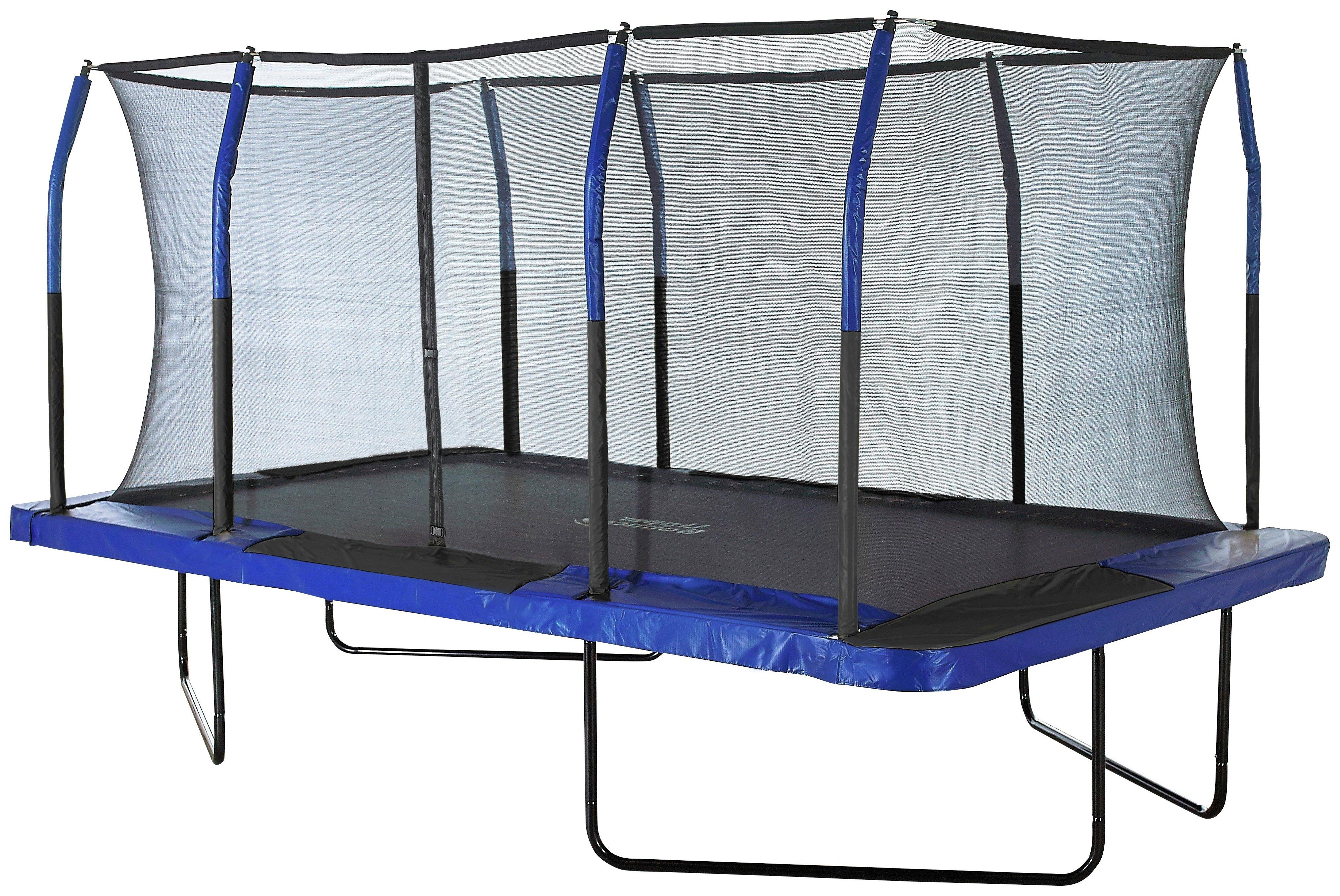 upper bounce 8 x 14ft easy assemble rectangular trampoline.