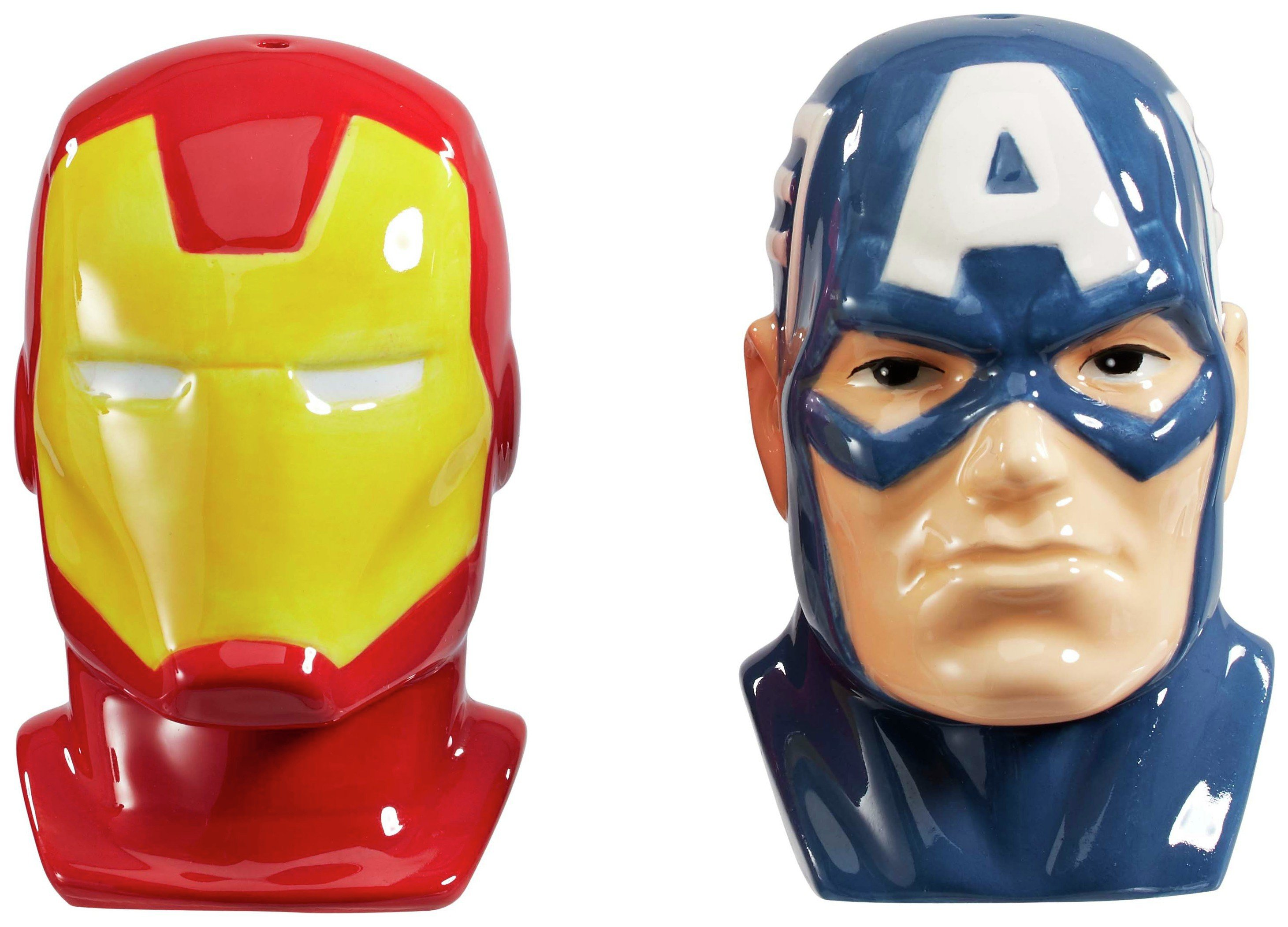 Marvel Captain America & Iron Man Salt & Pepper Shakers