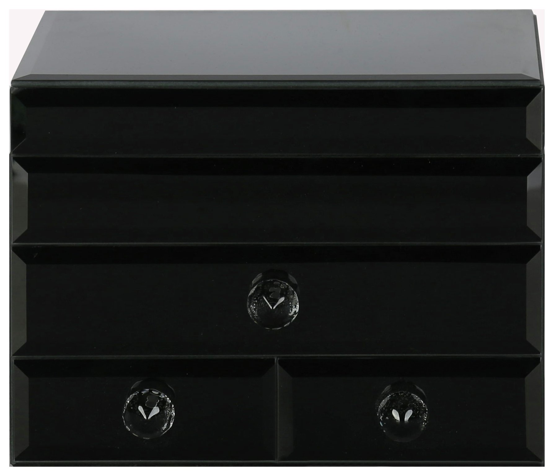 Image of Black Glass Jewellery Box