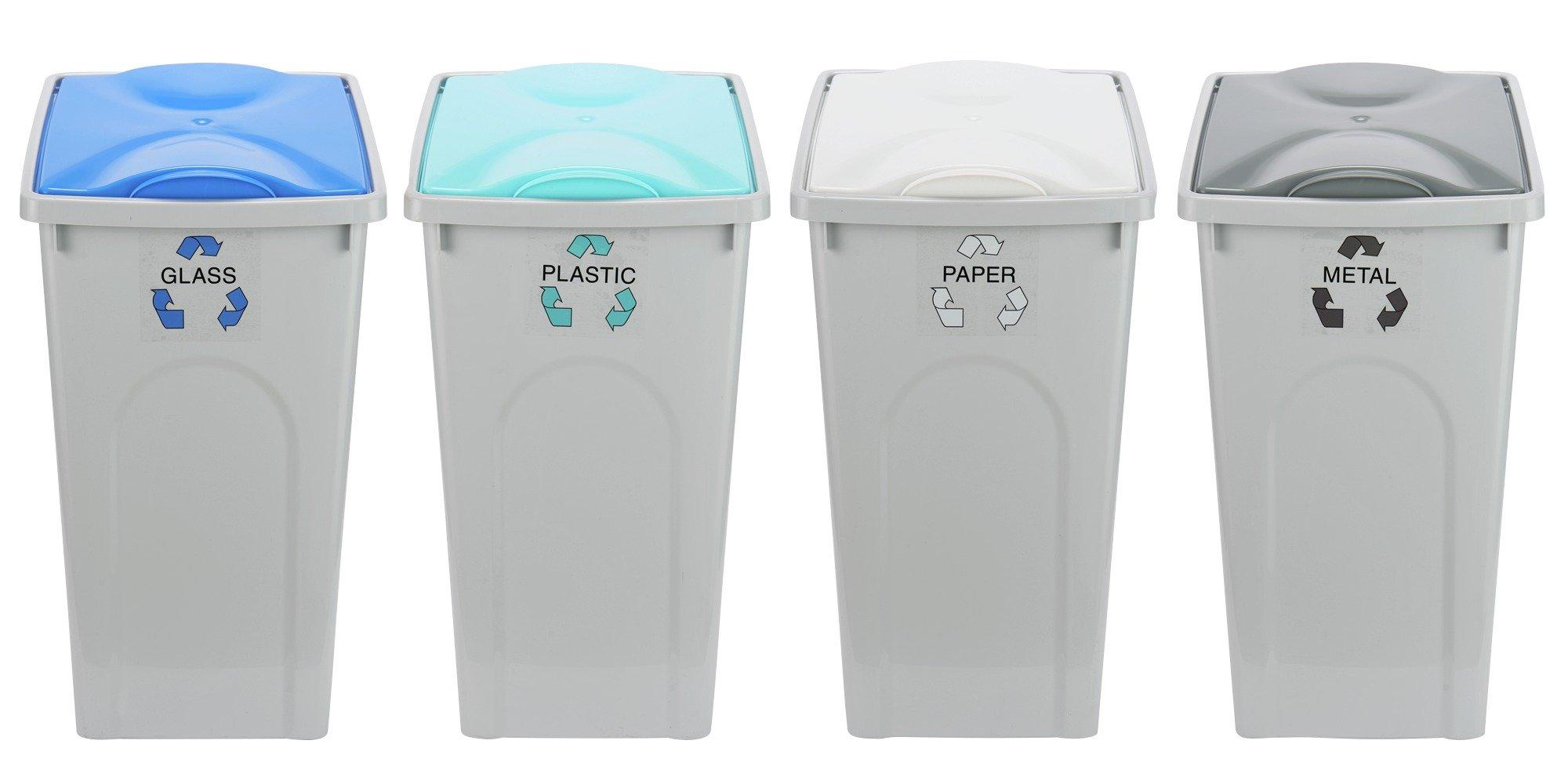 Argos Home 50 Litre Recycling Bins - Set of 4