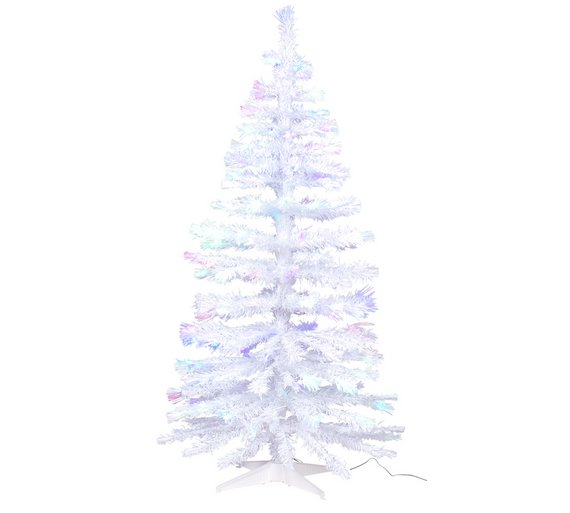 Argos Home 5ft Fibre Optic Christmas Tree - White - Buy Argos Home 5ft Fibre Optic Christmas Tree - White Christmas