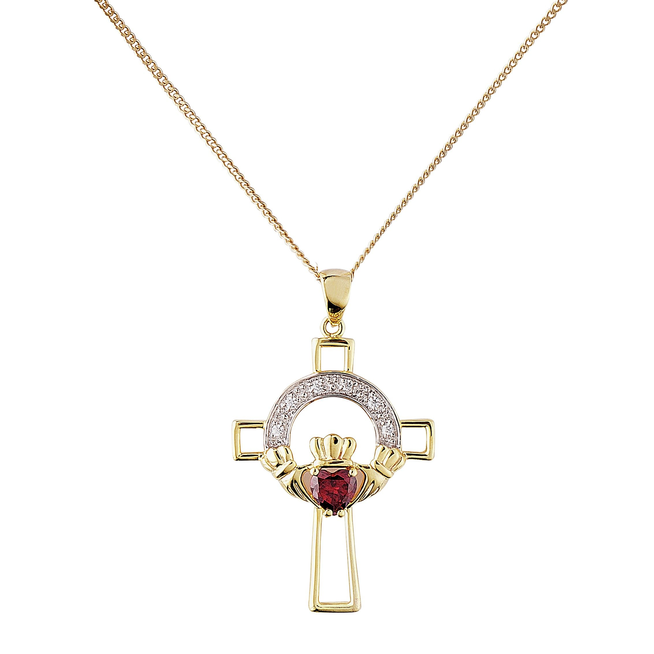 Revere 9ct Gold Plated Silver Claddagh Cross Pendant review