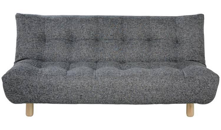 Astounding Buy Habitat Kota 3 Seater Fabric Sofa Bed Black And White Sofa Beds Argos Pdpeps Interior Chair Design Pdpepsorg