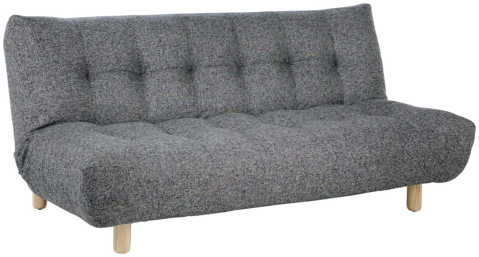 Buy Habitat Kota 2 Seater Fabric Sofa Bed Black and White Sofa