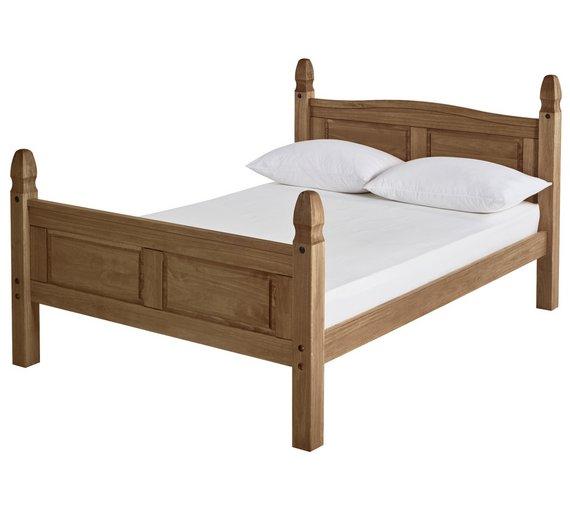Buy Argos Home Puerto Rico Kingsize Bed Frame - Dark Pine   Bed ...