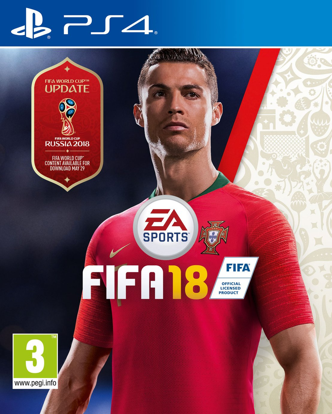 FIFA 18 PS4 Game.