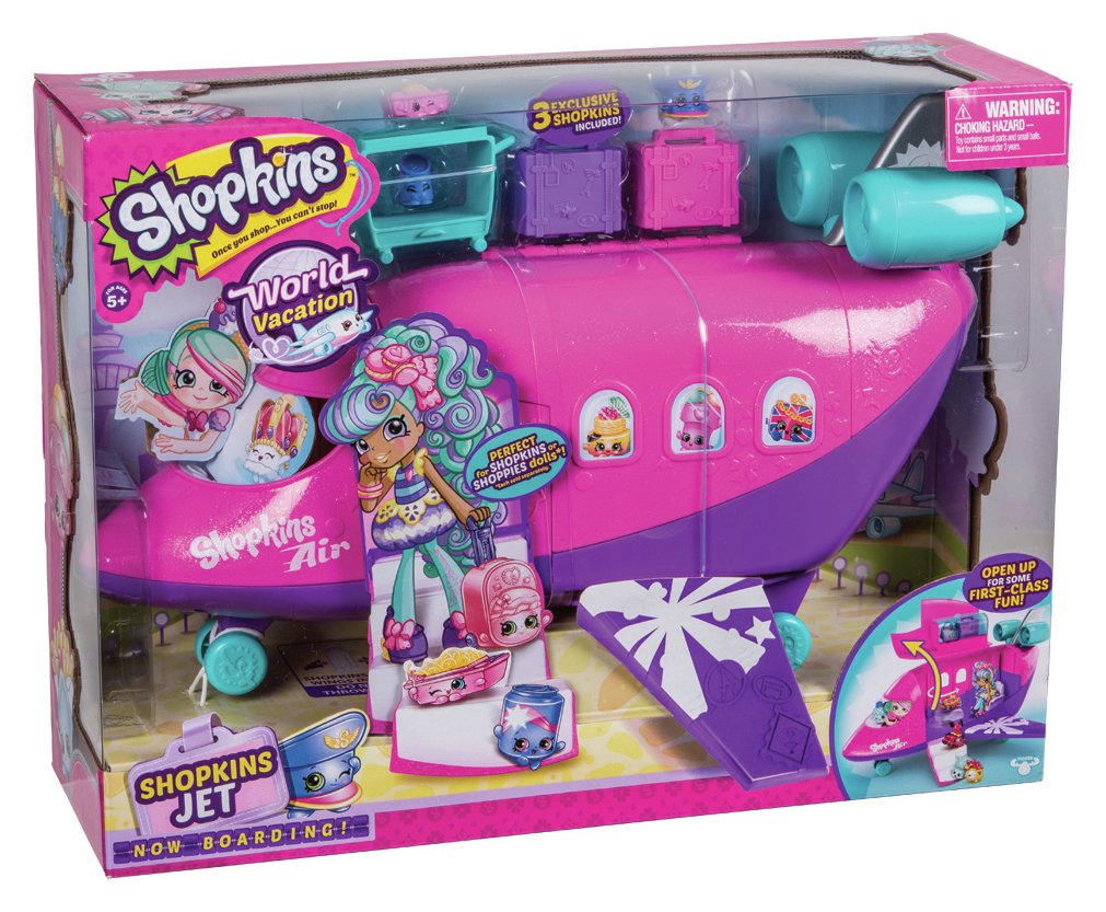 Shopkins Shoppies Plane Playset with Doll