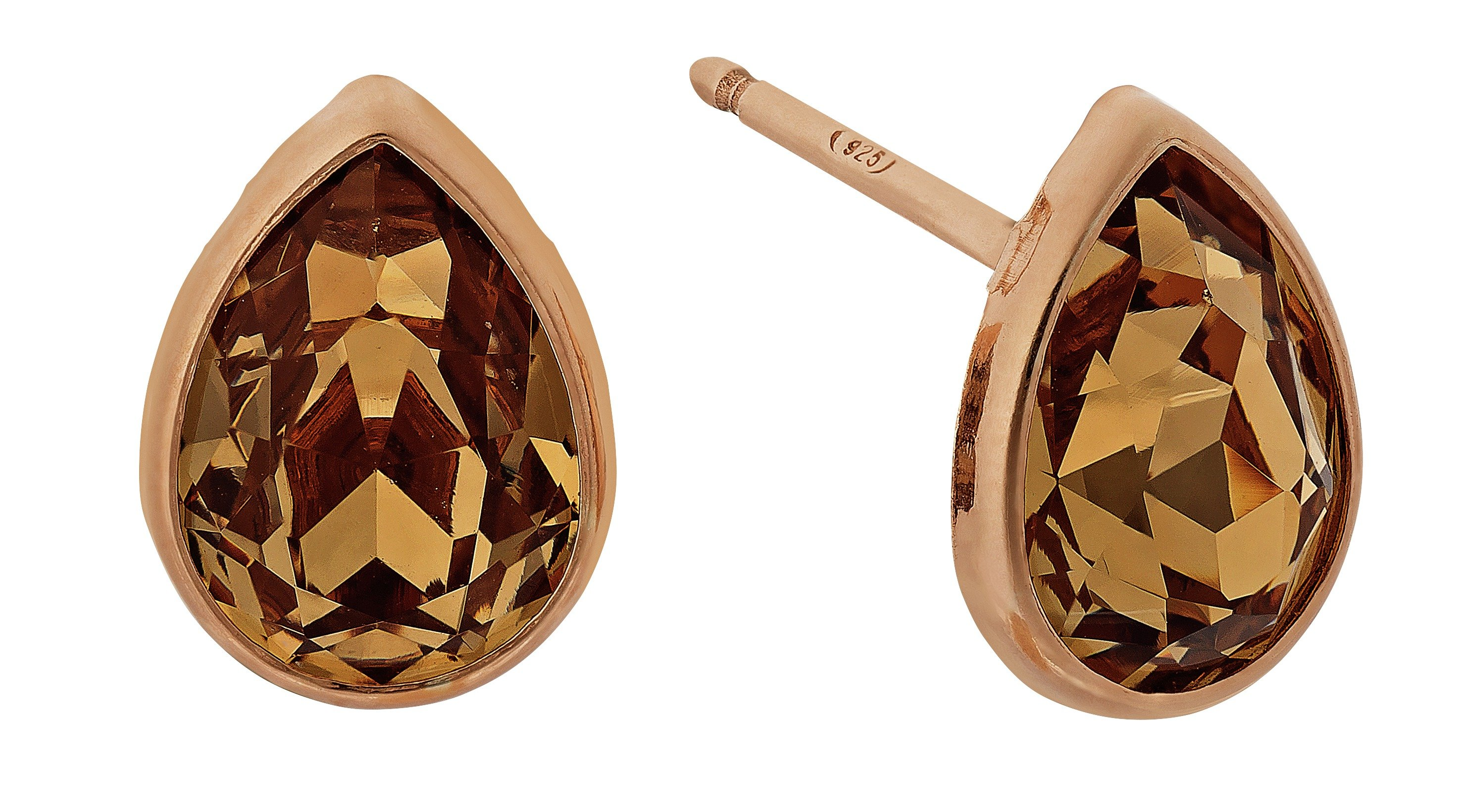 Image of Davvero Rose Gold Plated Silver Swarovski Crystal Earrings