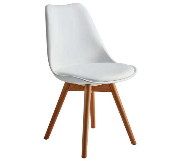 Buy Argos Home New Charlie Dining Chair White Dining Chairs
