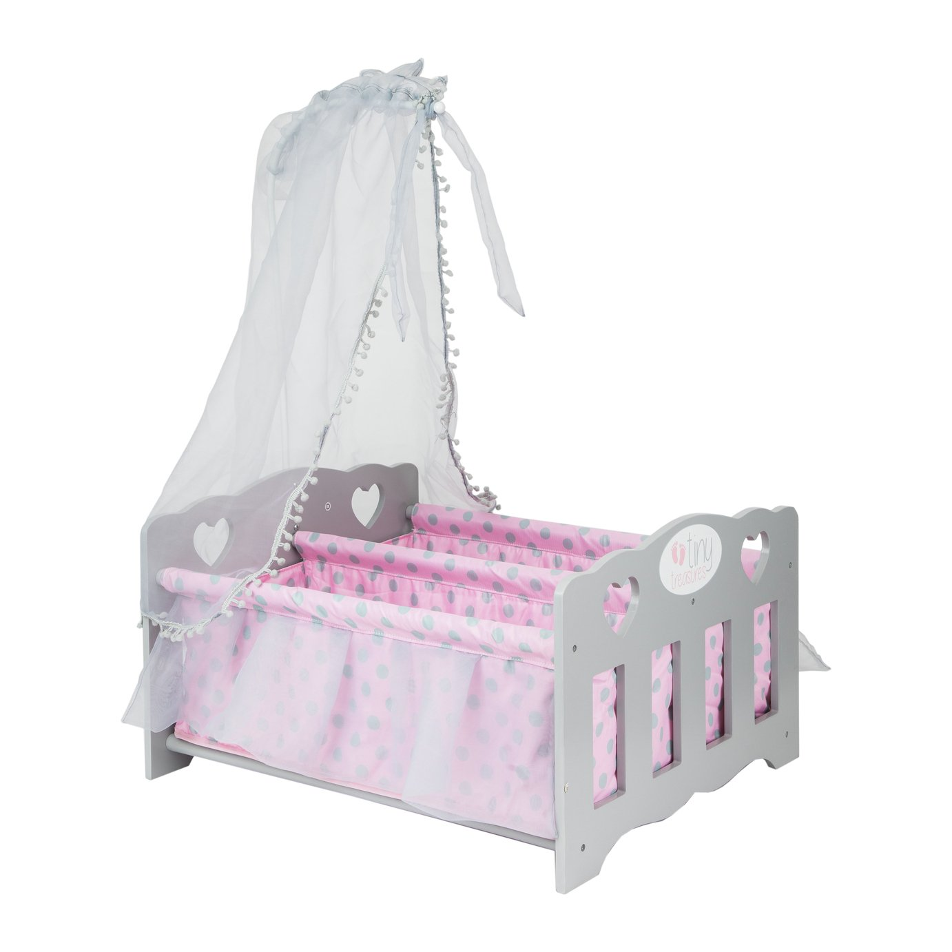 Chad Valley Tiny Treasures Wooden Double Baby Cot review