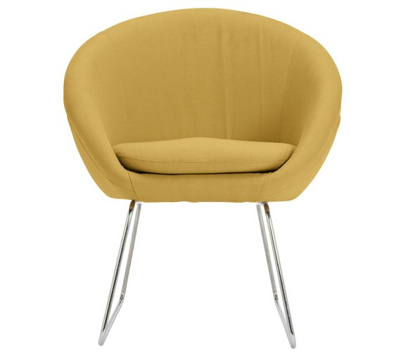 buy hygena fabric pod chair yellow armchairs and chairs argos